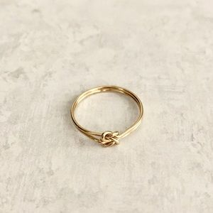 Gold Filled Knot Ring Gold Double Knot Ring 7